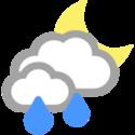 Molnigt och en del regnskurar