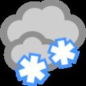 Mulet och snöbyar