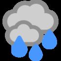 Mulet och regn